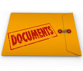 Documents Sealed Yellow Envelope Important Devliery Records — Stock Photo