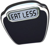Eat Less Words Scale Lose Weight Diet — Stock Photo