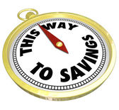 This Way to Savings Compass Sale Clearance Blowout — Stock Photo