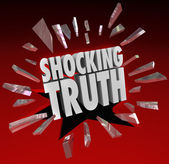 Shocking Truth Words News Information Surprise — Stock Photo