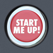 Start Me Up Car Starting Button Engine Excitement Arousal — Stock Photo