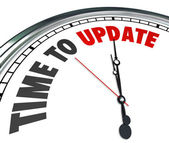 Time to Update Words Clock Renovate Improvement — Stock Photo