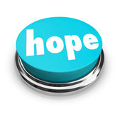 Hope Word Button Faith Spirituality Religion — Stock Photo