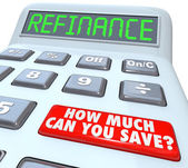 Refinance Calculator How Much Can You Save Mortgage Payment — Stock Photo