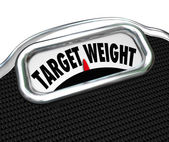 Target Weight Words Scale Healthy Goal Fitness — Stock Photo