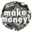 Stock Photo: Make Money Earn Income Profit Revenue Currency Ball