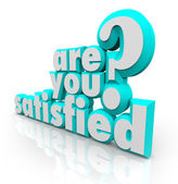 Are You Satisfied 3D Words Question Pleased Content Fulfillment — Stock Photo