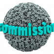 Commission Percent Sign Ball Earning Bonus Pay Rate — Photo