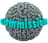 Commission Percent Sign Ball Earning Bonus Pay Rate — Stock Photo