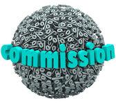 Symbole de pourcentage de commission ball accumuler des taux de rémunération bonus — Photo