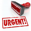 Urgent Stamp Word Immediate Emergency Action Required — Foto de Stock