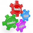 Family Friends Neighbors Co-Workers Support System Gears — Stock Photo