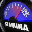 Stockfoto: StaminFuel Gauge Drive Power Energy Increase