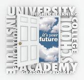 University College Words Open Door to Your Future — Zdjęcie stockowe