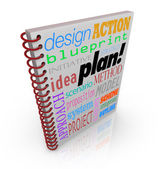 Plan Strategy Book Cover Business Planning — Stock Photo