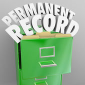Permanent Record Filing Cabinet Personal Files — Stock Photo