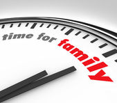 Time for Family Clock Spending Moments Parents Children — Stock Photo