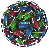 Credit Card Sphere Borrow Money Pay Loan — 图库照片