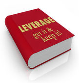 Leverage Get It Keep It Book Cover Advantage — Stock Photo