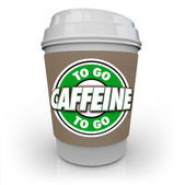 Caffeine Coffee Plastic Cup Drink Drive-Thru To-Go — Stock Photo