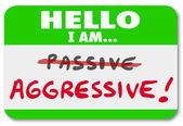 Hello I am Aggressive Vs Passive Action or Inaction Attitude — Stock Photo