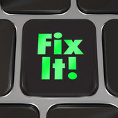 Fix It Computer Key Repair Instructions Advice — Stock Photo