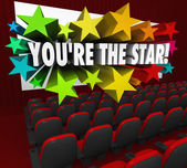 You're the Star Movie Theatre Screen Film Acting — Stock Photo