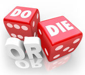 Do or Die Dice Final Outcome Result Gambling — Stock Photo
