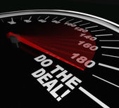 Do the Deal Close Sale Finalize Contract Speedometer — Stock Photo