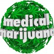 Medical Marijuana Words Leaves Legal Pharmacy — Stock Photo