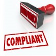 Stock Photo: Compliance Stamp Word Audit Rating Feedback