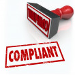 Compliance Stamp Word Audit Rating Feedback — Stock Photo