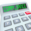 Compliance Word Calcualtor Accounting Financial Audit — Stock Photo #35625857