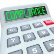 Compliance Word Calcualtor Accounting Financial Audit — Stock Photo