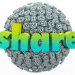 Stock Photo: Share Email Sign Symbol Sphere Give Feedback