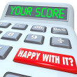 Stock Photo: Your Score Calculator Adding Total Result Numbers