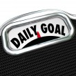 Stock Photo: Daily Goal Scale Weight Loss Diet Plan