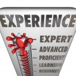 Experience Measurement Expert to Novice Level — Foto de Stock