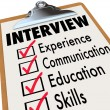 Stock Photo: Interview Checklist Job Candidate Requirements