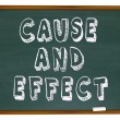 Stock Photo: Cause and Effect Chalk Board Experiment Science Learning