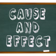 Cause and Effect Chalk Board Experiment Science Learning — Stock Photo #35626067