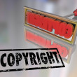 Copyright Branding Iron Name Product Protection — Stock Photo #35626107