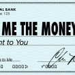 Show Me the Money Check Payday Earnings Wages — Stockfoto