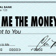 Show Me the Money Check Payday Earnings Wages — Photo