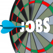 Jobs Career Dartboard Dart Successful Employment — Stock Photo #35626193