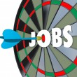 Jobs Career Dartboard Dart Successful Employment — Stock Photo