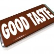 Good Taste Chocolate Candy Bar Wrapper — Stock Photo #35626219
