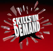 Skills in Demand 3D Words Needed Experience — Stock Photo