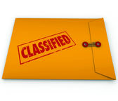 Classified Envelope Private Secret Plans Data — Stock Photo