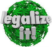 Legalize It Medical Marijuana Leaf Sphere Approve Vote — Stock Photo